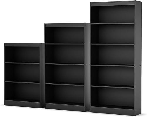Best modern bookcase: South Shore Smart Basics 3-Shelf 43 1/4″ Bookcase Multiple Finishes Chocolate