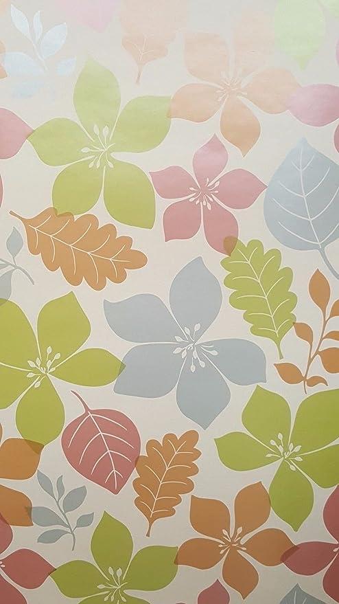 FD40020 Foilage Flower Multi Colour Wallpaper
