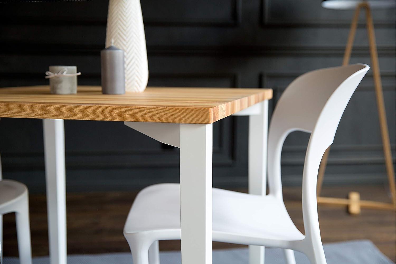 Table Carrée En Bois Naturel 80 X 80 X 75 Cm Table En Bois