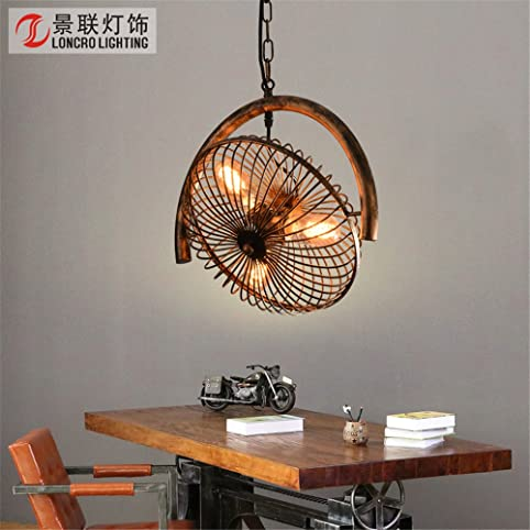 ceinture rtro lustre ventilateur ventilateur de plafond industriel restaurant lampe lampe chambre vent creative art fer - Ventilateur De Plafond Pour Chambre