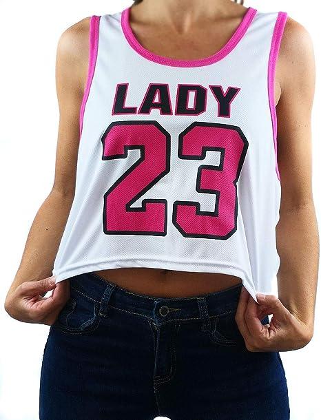 UISSOS Camiseta Top Chica Baloncesto Corta Lady 23 Talla Única ...