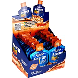 Energy Up Gel Cafeína Sabor Naranja, Pack 24