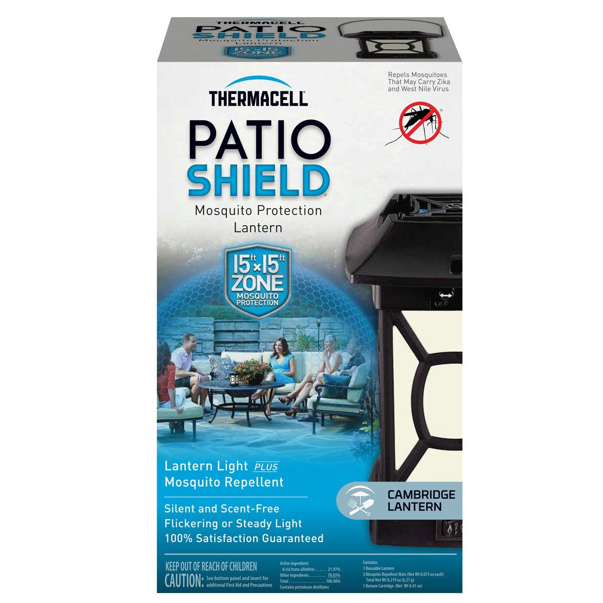 Amazon.com: Thermacell MR 9W Patio Shield Cambridge Mosquito Repeller Plus  Lantern: Sports U0026 Outdoors
