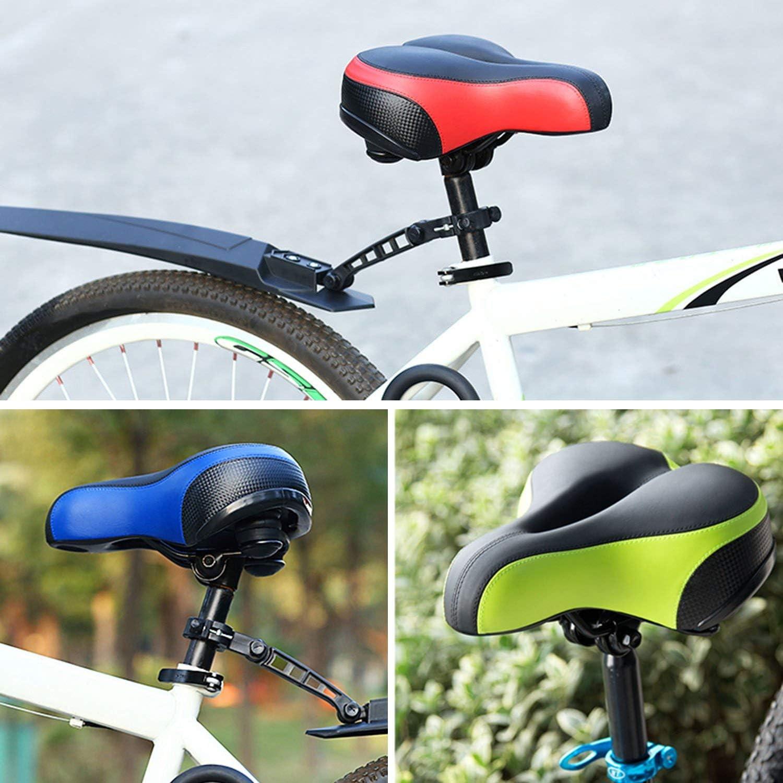 Asiento de Bicicleta para Hombres y Mujeres sill/ín de Bicicleta de Gel ergon/ómico y c/ómodo Aaron Sill/ín de Bicicleta de Trekking