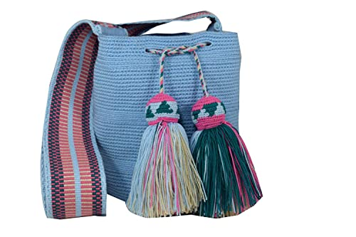 Amazon.com: Mochila Wayuu étnico 100% tela a mano Bolsa de ...