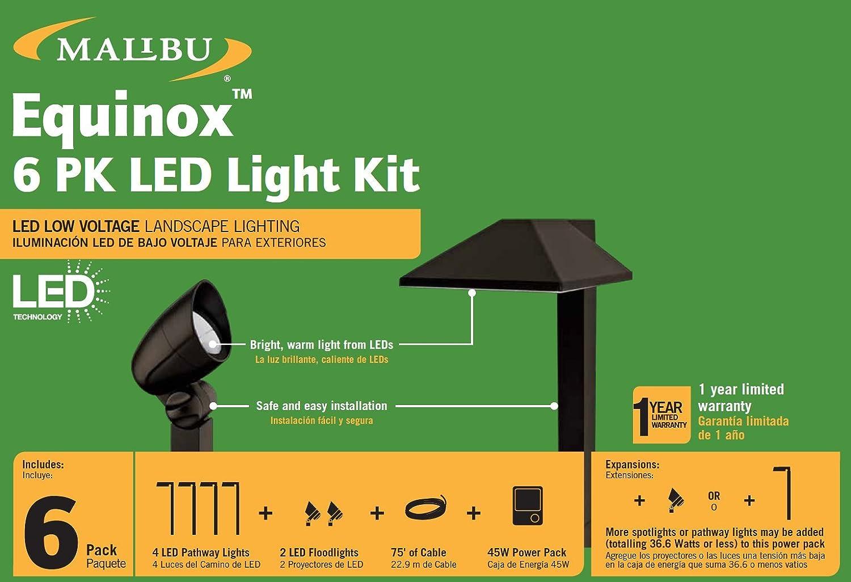 Malibu Equinox 6 Pack Led Light Kit Low Voltage Landscape Lighting On Wiring Pathway Lightspotlightpower Packcable Wire Garden Outdoor