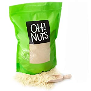 Oh! Nuts Blanched Almond Flour | Gluten-Free, Extra Fine Baking Delights | 1.75 lb All-Natural Wheat Substitute | Dried Food Healthy Pantry Items | All-Purpose Kosher, Vegan, Paleo and Keto Friendly Diets