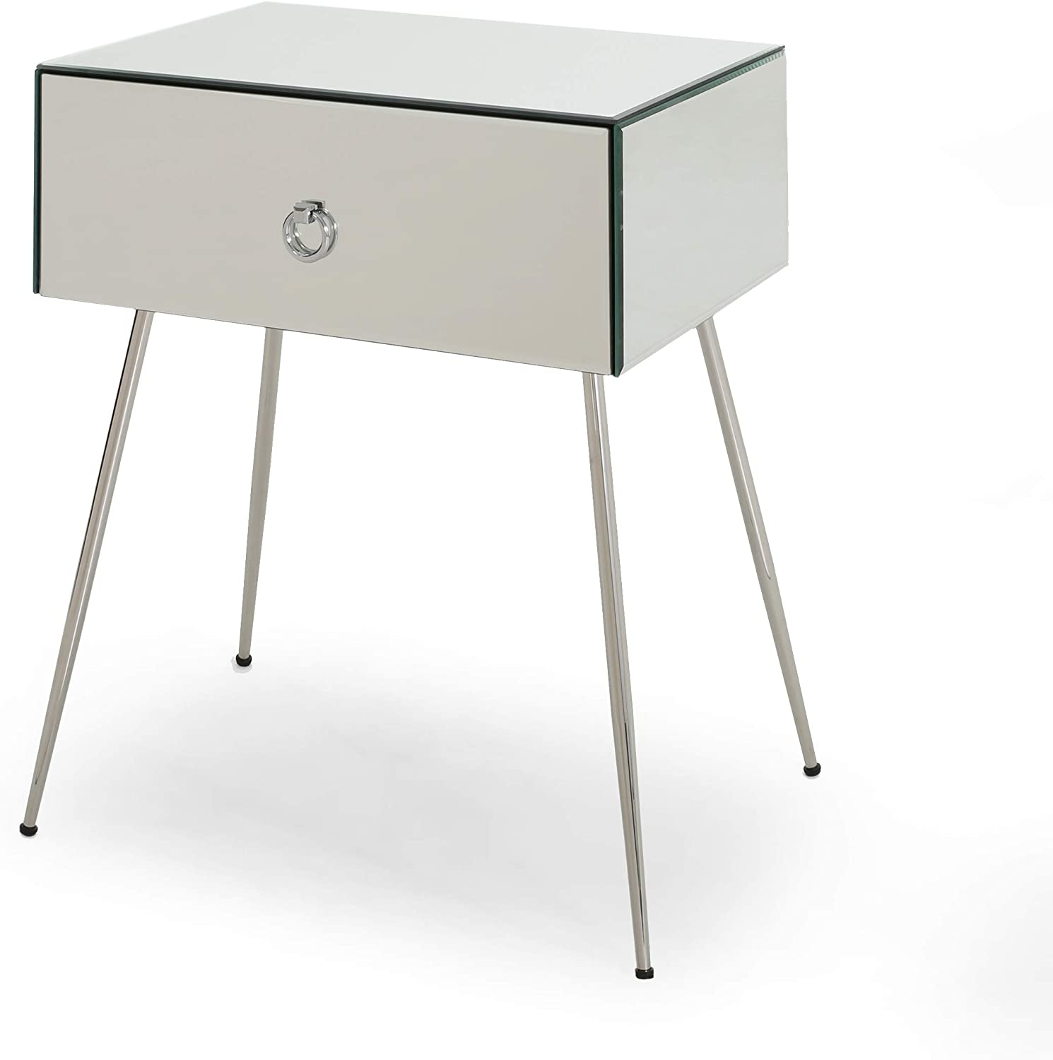 Christopher Knight Home Georgia Modern Accent Table, Mirror, Silver