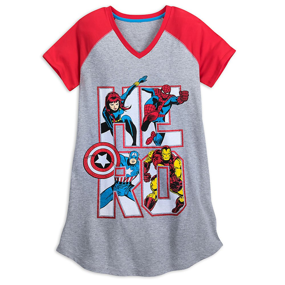 Marvel Comics Nightshirt For Women Size M/L