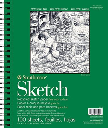 Amazon com: Strathmore 457-9 400 Series Recycled Sketch Pad, 9