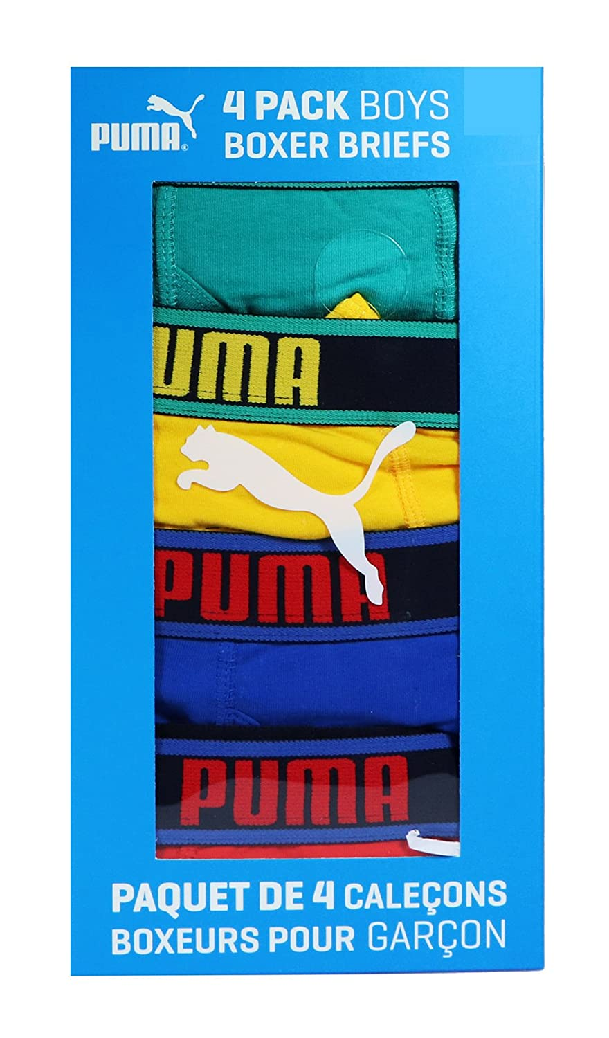 Puma Inc Puma Boys 95% Cotton Boxer Briefs - 4 Pack Age 16 to 18)