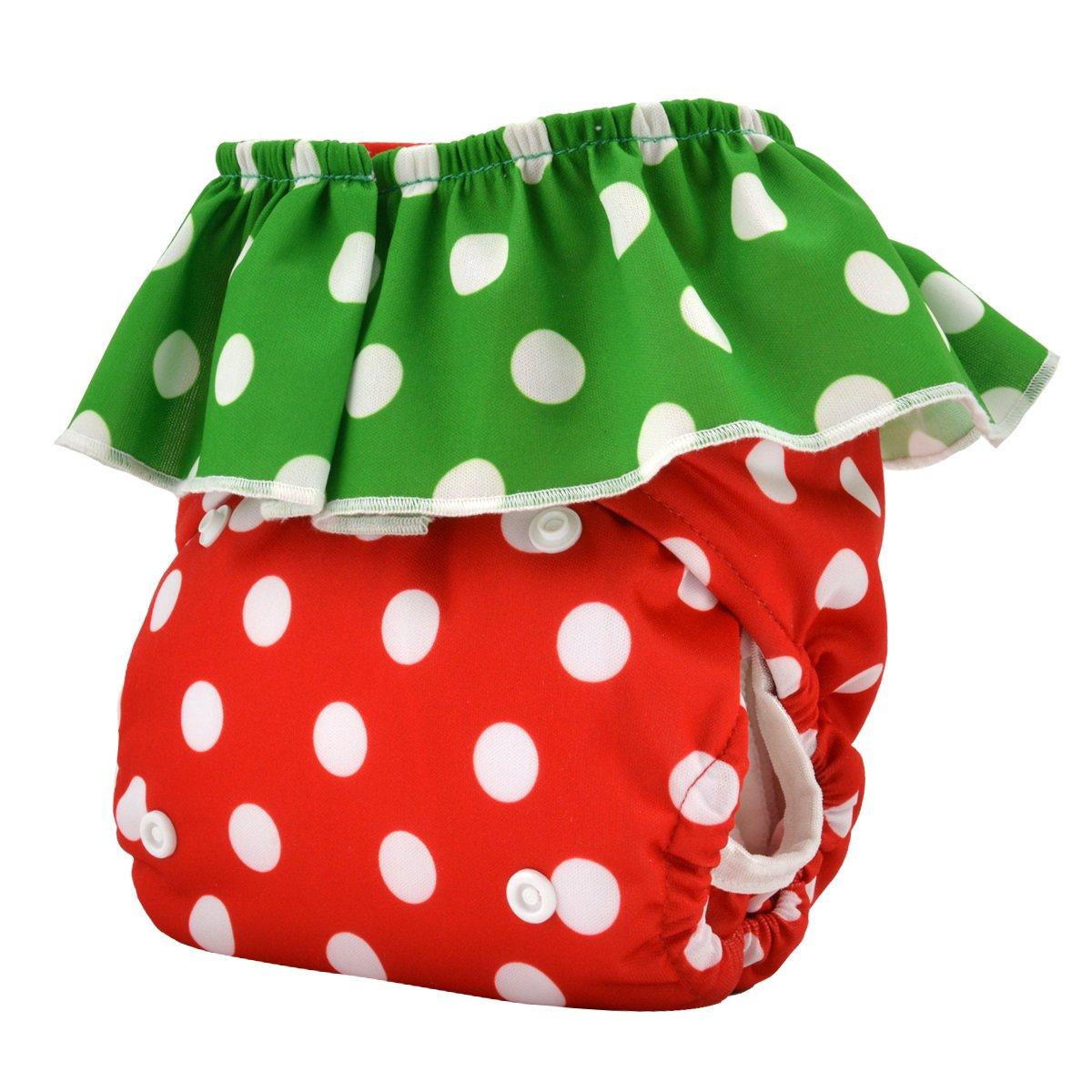 Alva bebé reutilizable lavable de bolsillo de fresas pañales de tela pañal + 2 Inserciones hl01: Amazon.es: Bebé