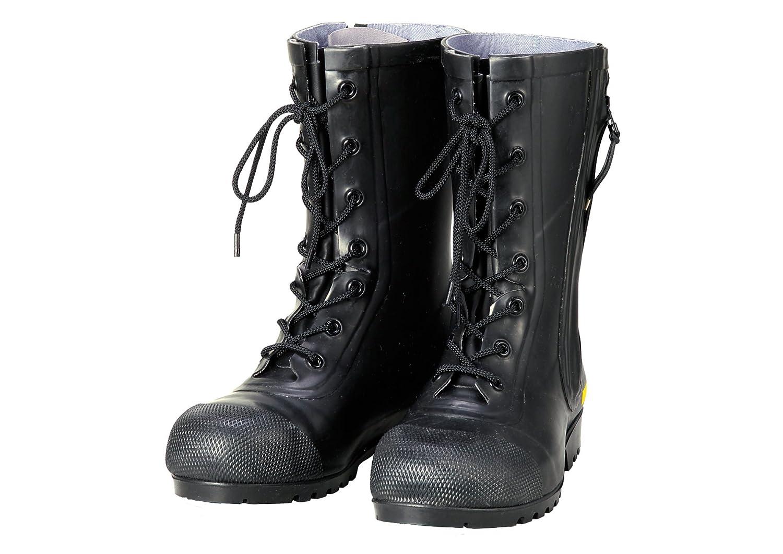 AF020 消防団員用ゴム半長靴SG201(27.5cm, ブラック) B017GS03H8