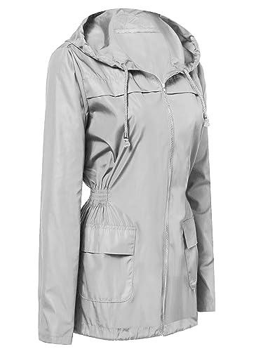 Onbay - Abrigo impermeable - para mujer gris XX-Large
