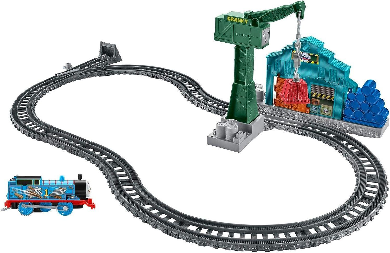 Thomas and Friends Derribo en el Muelle Pista de Tren de Juguete de la Locomotora Thomas, Juguetes Niños 3 Años (Mattel DVF73)