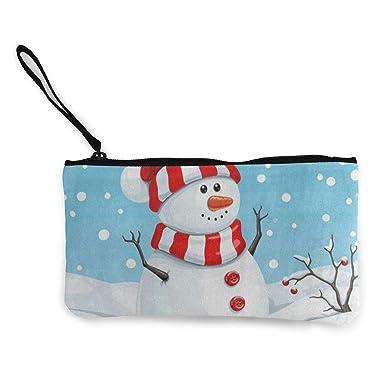 Amazon.com: Monedero de lona con diseño de copo de nieve de ...