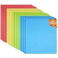 CLEAN LEADER Swedish Dishcloths Cellulose Sponge Cloths 4 Color 16ps