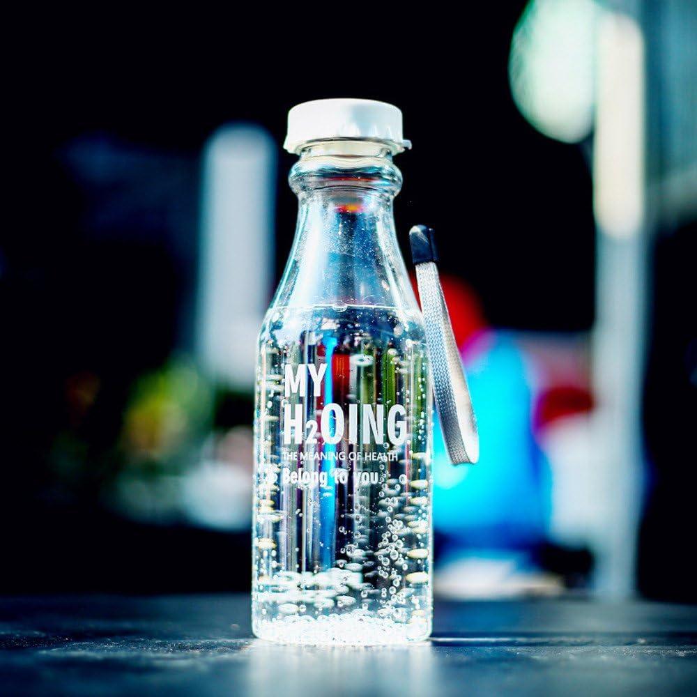 Tefamore Botellas Plastico Transparente 💕 Botella de Refresco con Cordón de Plástico Transparente Taza