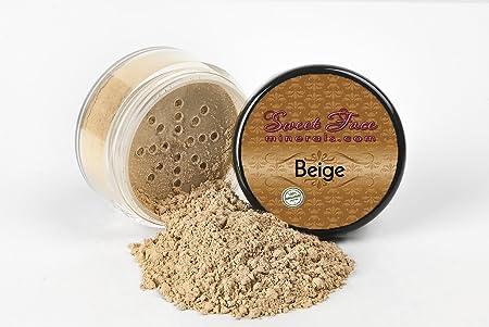 BEIGE FOUNDATION Sample to Bulk Sizes Mineral Makeup Matte Jar Bare Face Powder Sheer Natural Cover 1 Pound Bulk