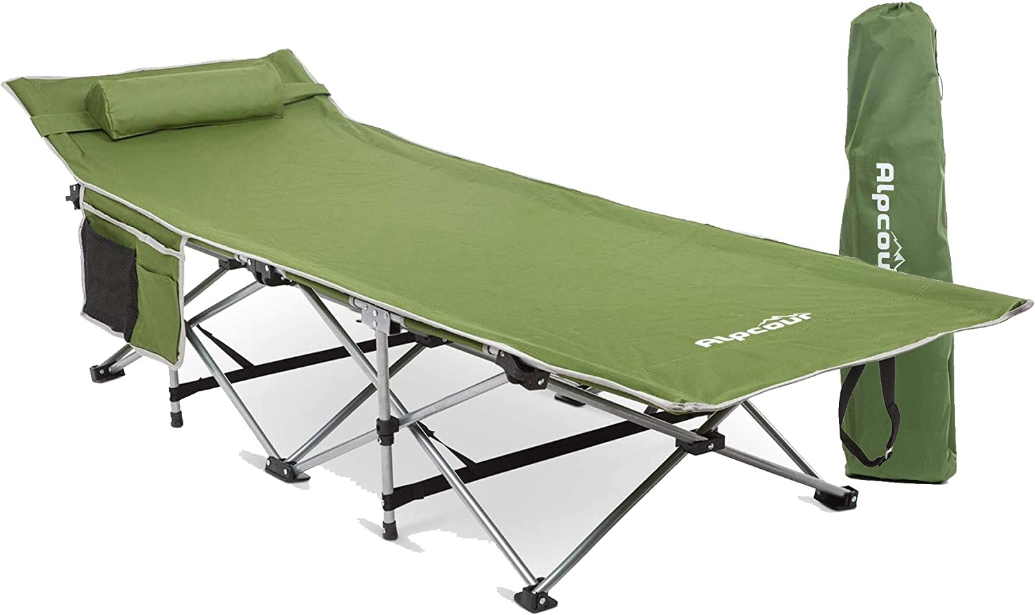 - Amazon.com: Alpcour Folding Camping Cot – Deluxe Collapsible