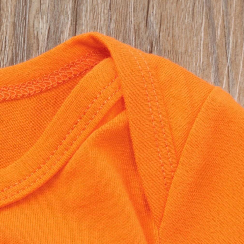Memela Baby Halloween Costumes Newborn Baby Halloween Letter Pumpkin Romper Jumpsuit+Pants Set Clothes