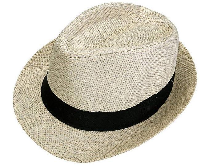 BoBoLily Sombrero De Paja para Hombre Unisex Sombrero De Verano para Mujer  Vacaciones En Especial Estilo 3c9fca6e354