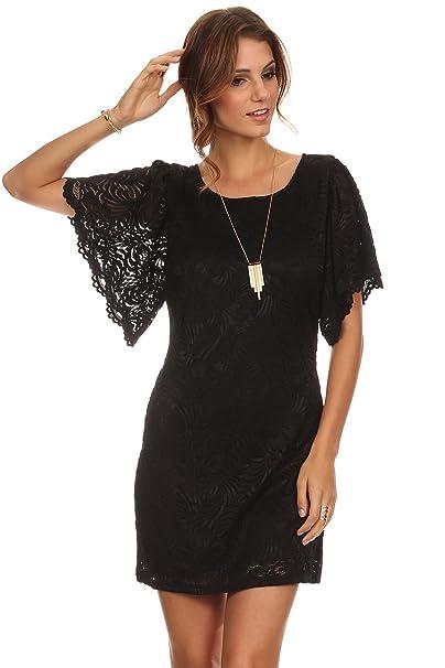 Amazon.com: meshme Womens Lindsey, Flutter Vestido de encaje ...