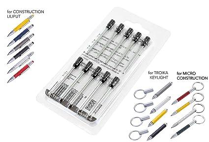 Troika - Recambios de tinta para impresora Micro Construction (10 ...