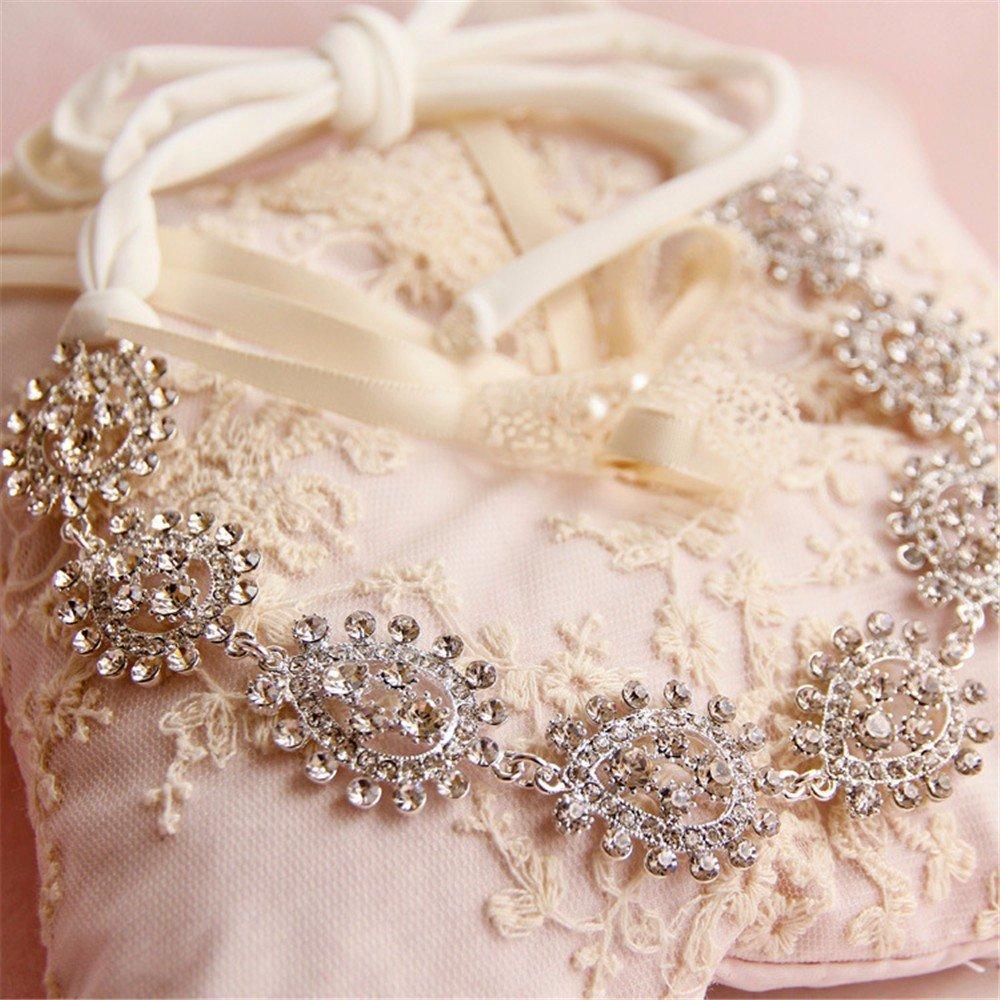 XPY&DGX Bride Boda Prom Horquillas Tocado Broca de aleación de Novia Coreano con Blanco Vestido Nupcial Accesorios Accesorios de Peinado Nupcial: Amazon.es: ...