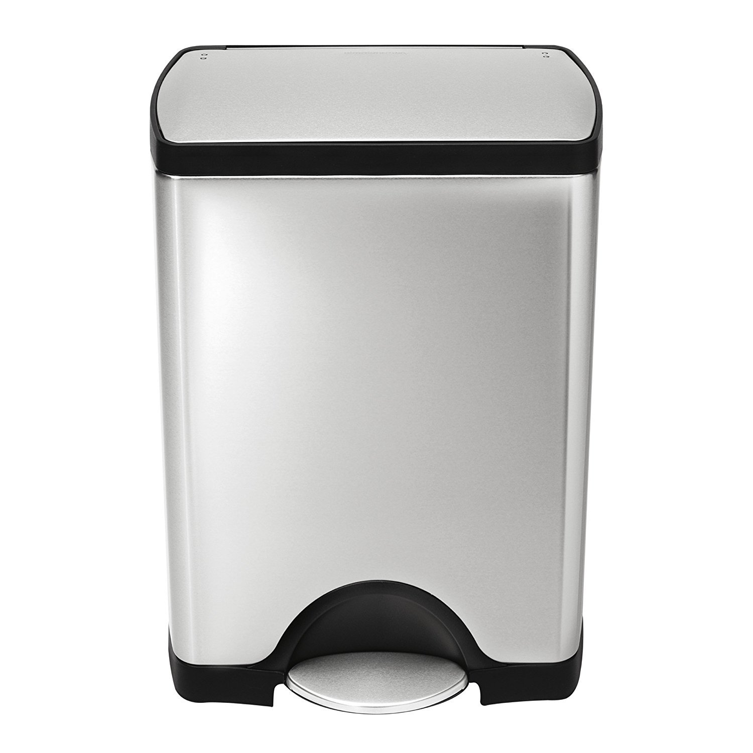 simplehuman 30 Liter / 8 Gallon Stainless Steel Rectangular Kitchen Step Trash Can, Brushed Stainless Steel by simplehuman