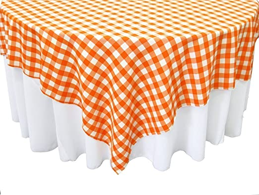 Navy /& White Rectangular Checkered Tablecloth 60x120 Inches By Runner Linens Factory