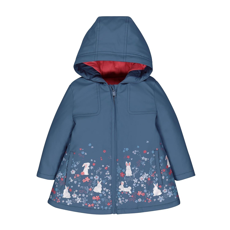 Mothercare Baby-Mädchen Regenmantel Blue Floral Mac QB413