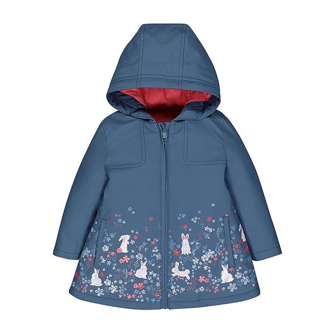Mothercare Baby-M/ädchen Blue Floral Mac Regenmantel