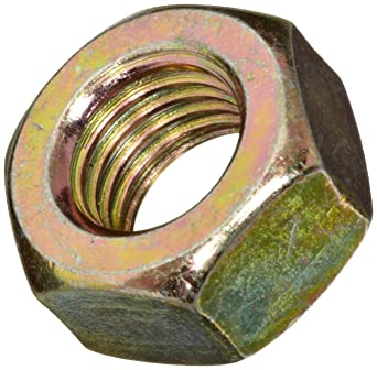 7//32 Thick ASME B18.2.2 1//4-28 Thread Size Plain Finish Brass Hex Nut 7//16 Width Across Flats Pack of 50