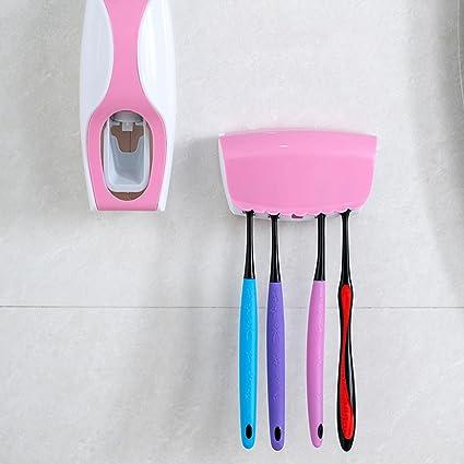 Pasta de dientes apretando dispositivo soporte para cepillos de dientes automático Squeeze Wash Hogar departamento dispensador