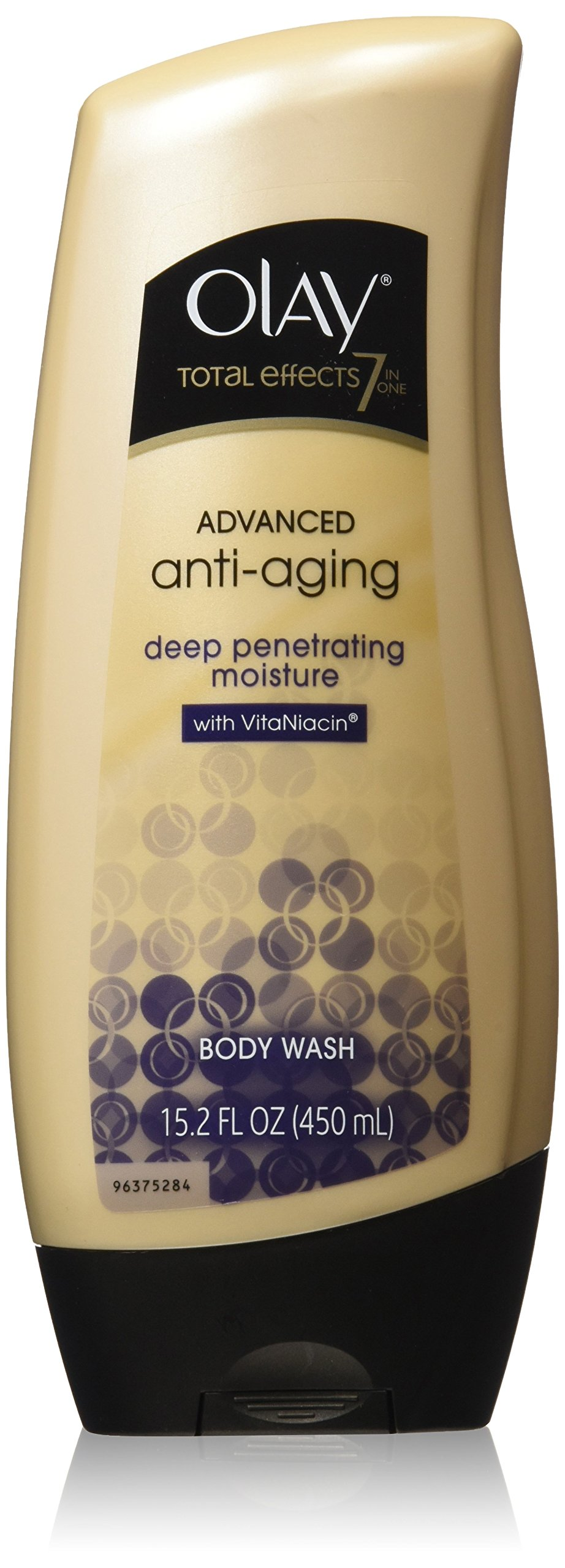 Olay Total Effects Advanced Anti-Aging, Deep Penetrating Moisture Body Wash with VitaNiacin for Younger-Looking Skin - 15.2 Fl Oz, Pack of 2