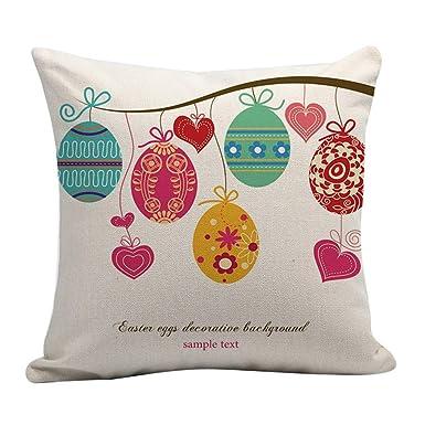 4 Colores Opcionales Funda de cojín de Pascua Que Imprime la ...