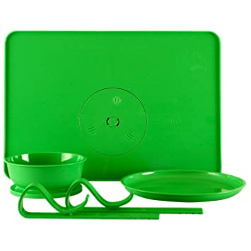 Kids Stay Put Dining and Dinnerware Set Locking Bowl and Plate With Placemat Tray That  sc 1 st  Amazon.com & Amazon.com : Kids Stay Put Dining and Dinnerware Set Locking Bowl ...