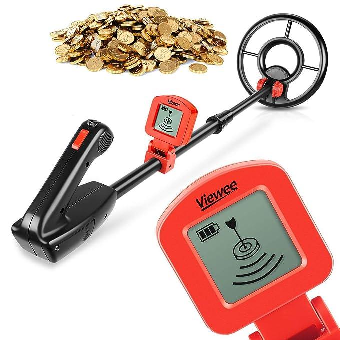 VIEWEE - Detector De Metales Para Jóvenes Pequeños Impermeable Júnior Detector De Metal Con Una Pala (2017 Nuevo): Amazon.es: Juguetes y juegos
