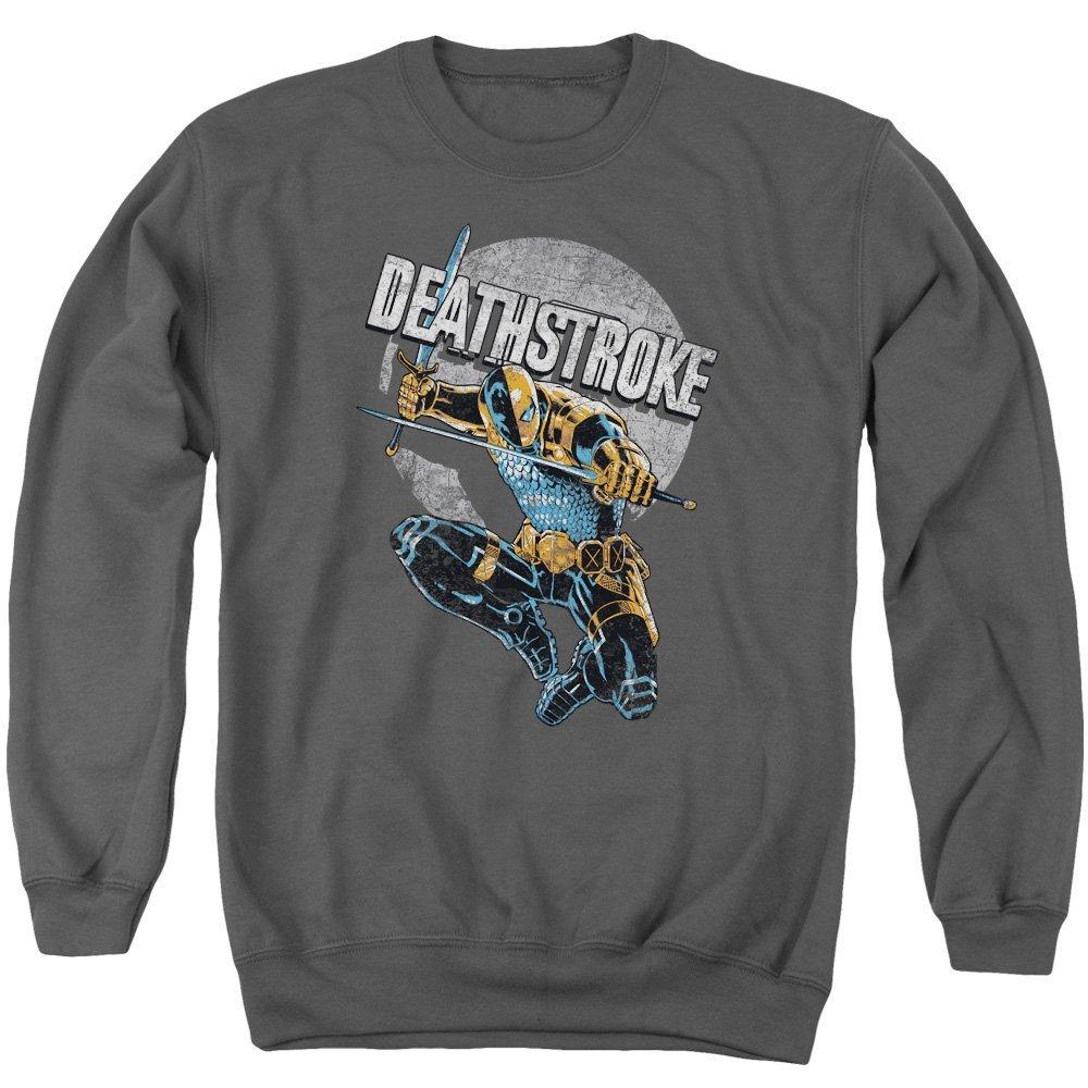 Deathstroke Retro Adult Crewneck Sweatshirt Justice League of America