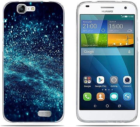DIKAS per Huawei Ascend G7 (L01 L03 C199) Cover, Custodia Silicone Caso Molle di Morbido Sottile Gel Transparent Slim Thin Skin Shell Protezione per ...