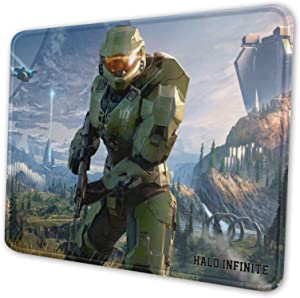 H-God Ha-lo Infi-nite Pack Mouse Pad with Stitched Edge, Mouse Pad with Non-Slip Rubber Base, Mouse Pads for Computers, Laptop, Gaming, Office & Home, 8.3 X 10.3 in