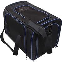 igadgitz Xtra Polyester Tiertragetasche, Hundebox Faltbar, Katzenbox, haustiertragetasche - Tragegriffen & verstellbarem Schultergurt
