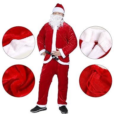 christmas santa claus costumes plush boys pub flannel crawl santa suit xmas suit red - Santa Claus Coat
