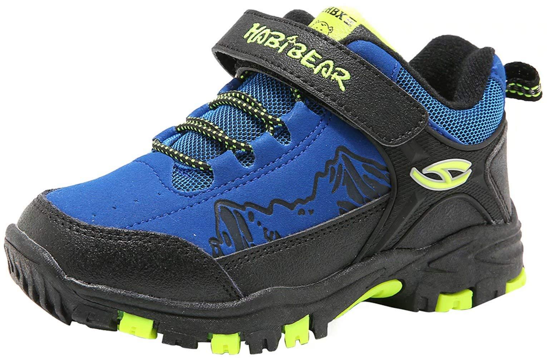HOBIBEAR Kids Outdoor Hiking Shoes Kids Waterproof Athletic Sneakers (Blue,3 Little Kid)
