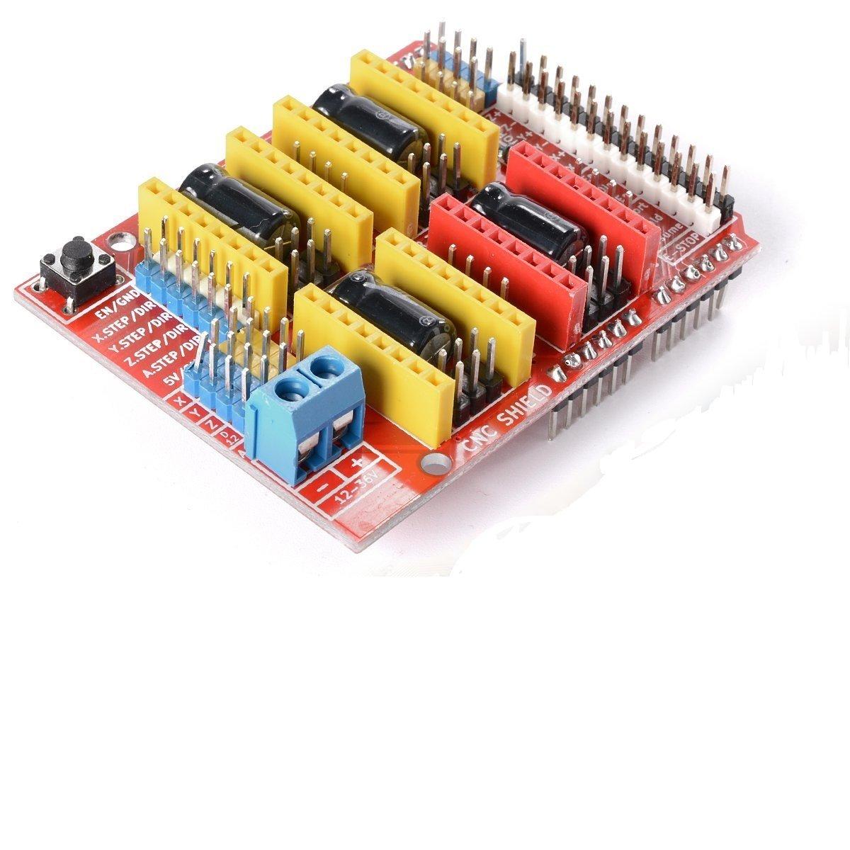 WINGONEER CNC Arduino Escudo A4988 V3 Engraver Expansion Placa Shield Impresora 3D