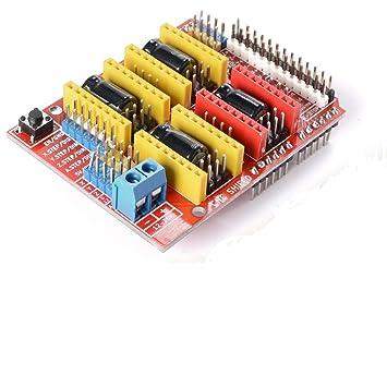 WINGONEER CNC Arduino Escudo A4988 V3 Grabador Expansión Placa ...