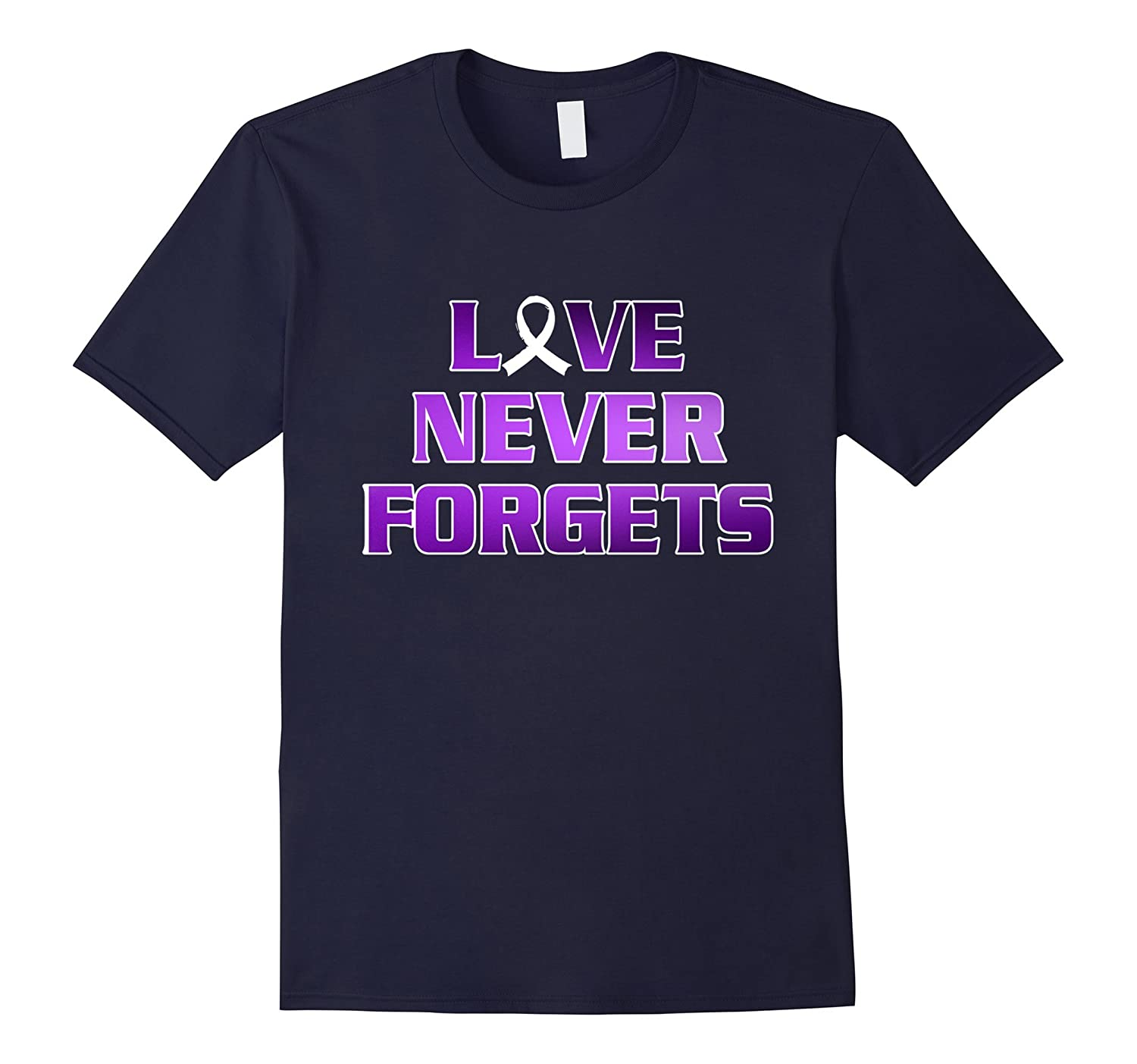 Alzheimers Awareness T-Shirt Love Never Forget End Alzheimer-FL
