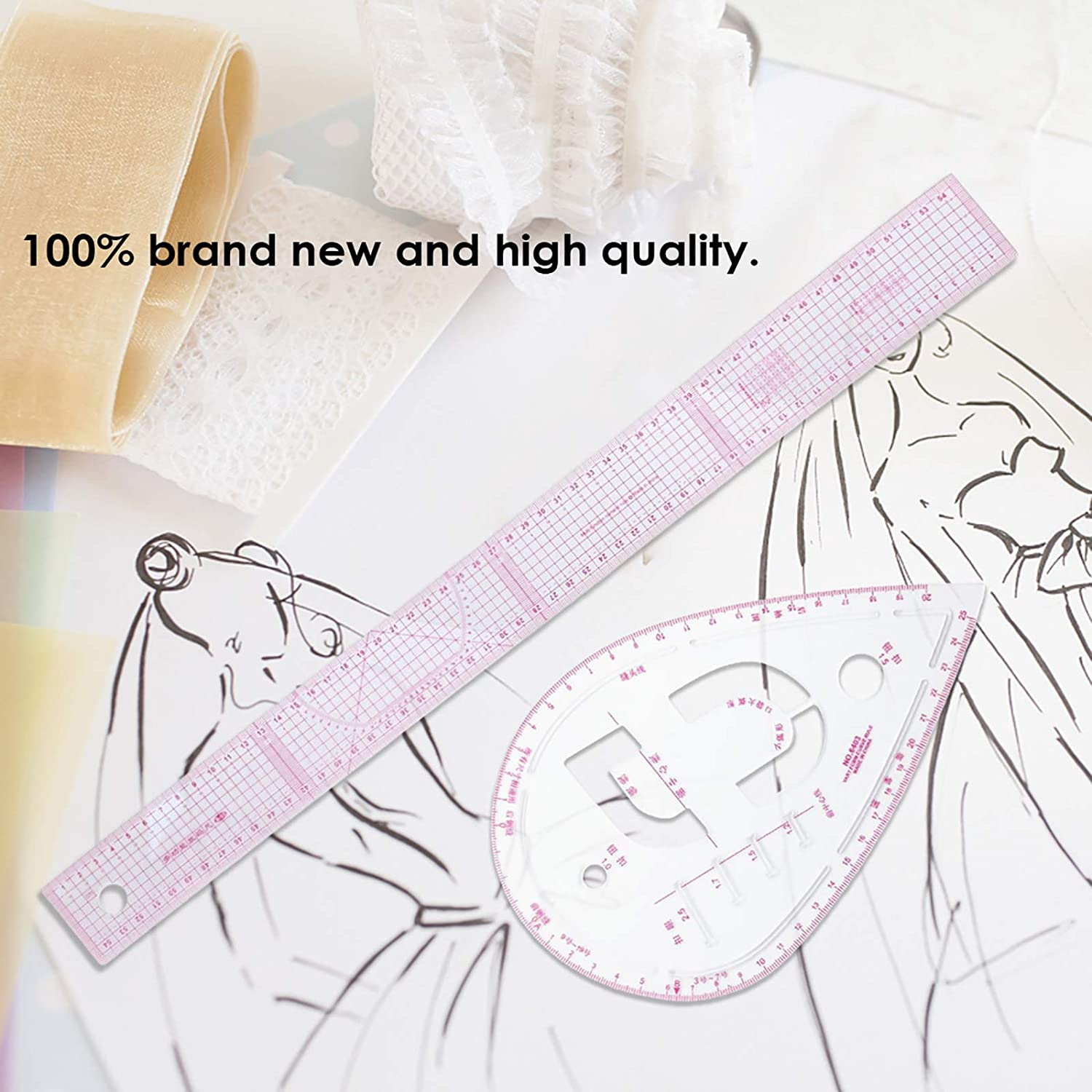 Pattern Maker and Tailors DIY Sewing Ruler Tailor Set 7pcs Curve Metric Ruler Multifunction Sewing Dress Making Tailor Tool for Designers SOONHUA Sewing Ruler