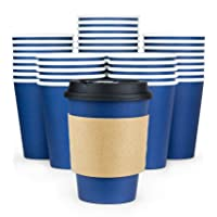Glowcoast Disposable Coffee Cups With Lids - 12 oz To Go Coffee Cup (110 Pack)....